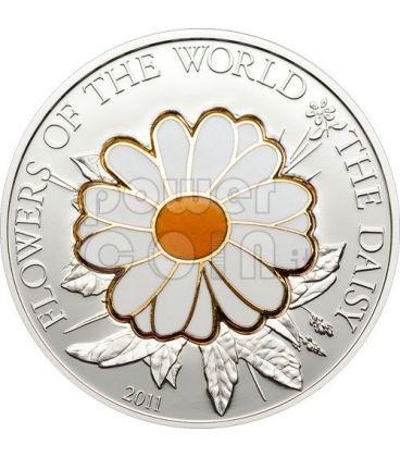 MARGHERITA CLOISONNE Moneta Argento 5$ Cook Islands 2011