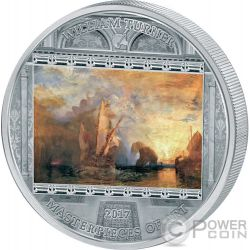 WILLIAM TURNER ULYSSES Ulises Masterpieces of Art 3 Oz Moneda Plata 20$ Cook Islands 2017
