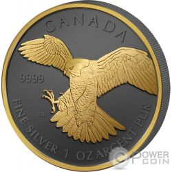 BIRDS OF PREY Golden Enigma Set 4x1 Oz Silver Coins 5$ Canada 2014 2015