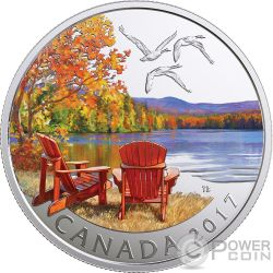 AUTUMNS PALETTE Autunno Silver Coin 10$ Canada 2017