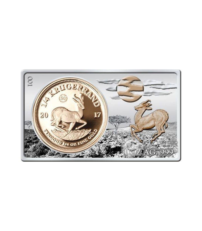 Krugerrand 50th Anniversary 1 4 Oz Gold Coin 1 Oz Silver