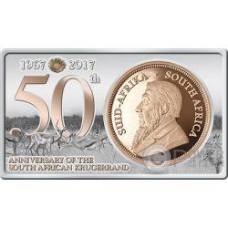 KRUGERRAND 50th Anniversary 1/4 Oz Золото Монета 1 Oz Серебро Set Южная Африка 2017