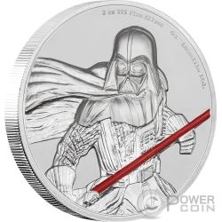 DARTH VADER Ultra High Relief Star Wars 2 Oz Silver Coin 5$ Niue 2017