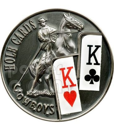 POKER HOLE CARDS Cowboys Texas Hold'em Coin 1$ Palau 2010