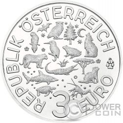 KINGFISHER Eisvogel Colourful Creatures Glow In The Dark Münze 3€ Euro Austria 2017