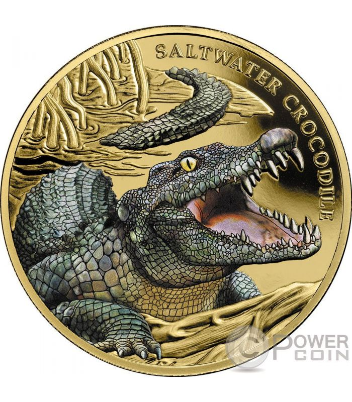 Saltwater Crocodile 1 Oz Gold Coin 100 Niue 2018 Power Coin