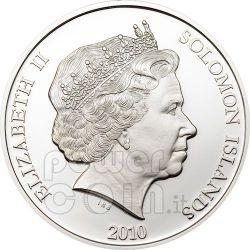 MOTHER TERESA JOHN PAUL II Pope Silber Münze 10$ Solomon Islands 2010