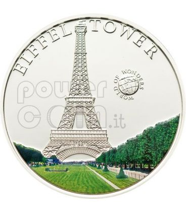 TORRE EIFFEL World Of Wonders Moneta Argento 5$ Palau 2010