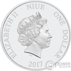 SEASONS GREETINGS Mickey Maus Disney 1/2 Oz Silber Münze 1$ Niue 2017