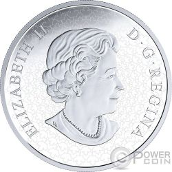 HOLIDAY SPLENDOUR Poinsettia Christmas Eve Flower 5 Oz Серебро Монета 50$ Канада 2018