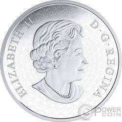 HOLIDAY SPLENDOUR Poinsettia Christmas Eve Flower 5 Oz Silver Coin 50$ Canada 2018