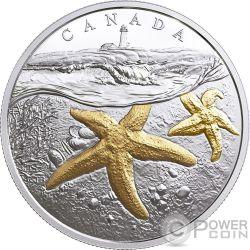 ATLANTIC STARFISH From Sea To Sea To Sea 1 Oz Серебро Монета 20$ Канада 2017