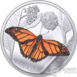 MONARCH MIGRATION Farfalla 3 Oz Moneta Argento 50$ Canada 2017
