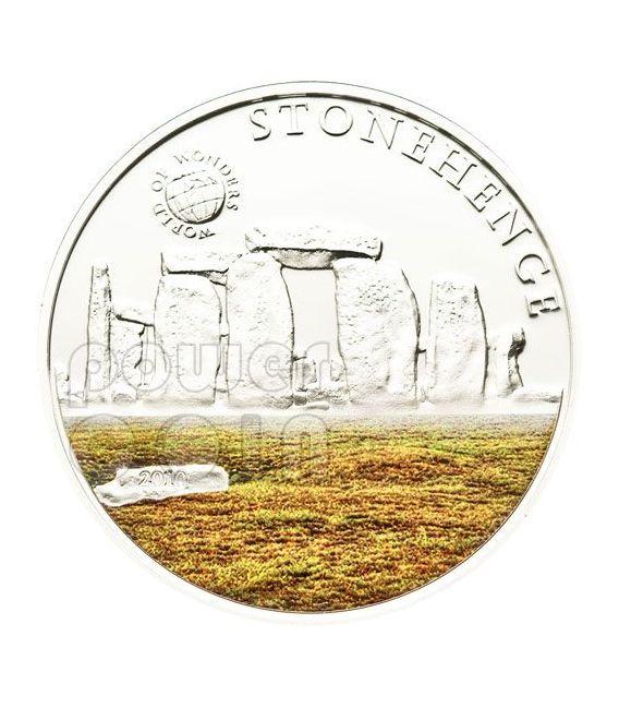 STONEHENGE World Of Wonders Moneta Argento 5$ Palau 2010