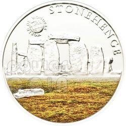 STONEHENGE World Of Wonders Silver Coin 5$ Palau 2010
