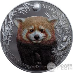 RED PANDA Rot Night Animals 1 Oz Silber Münze 5$ Cook Islands 2017