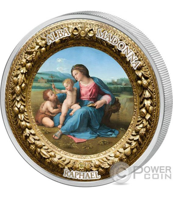 Alba Madonna Raphael Perfection In Art 2 Oz Silver Coin 10