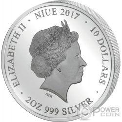 ALBA MADONNA RAPHAEL Rafael Perfection in Art 2 Oz Moneda Plata 10$ Niue 2017
