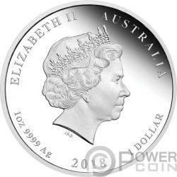 DOG Lunar Year Series 1 Oz Silver Coin 1$ Australia 2018