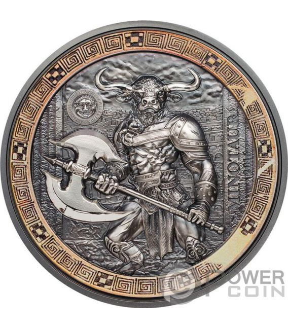 Minotaur Mythical Creatures 2 Oz Silver Coin 10 Palau