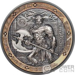 MINOTAUR Minotauro Mythical Creatures 2 Oz Moneda Plata 10$ Palau 2016