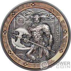 MINOTAUR Minotauro Mythical Creatures 2 Oz Moneta Argento 10$ Palau 2016