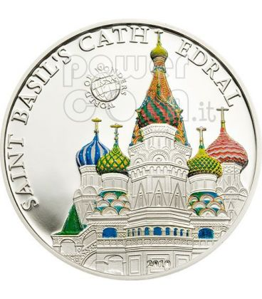 ST. BASIL CATHEDRAL World Of Wonders Silver Coin 5$ Palau 2010