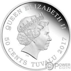 SEA OTTER Polar Babies Silver Coin 50 Cents Tuvalu 2017