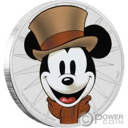CHRISTMAS CAROL Mickey Through The Ages Disney 1 Oz Silver Coin 2$ Niue 2017