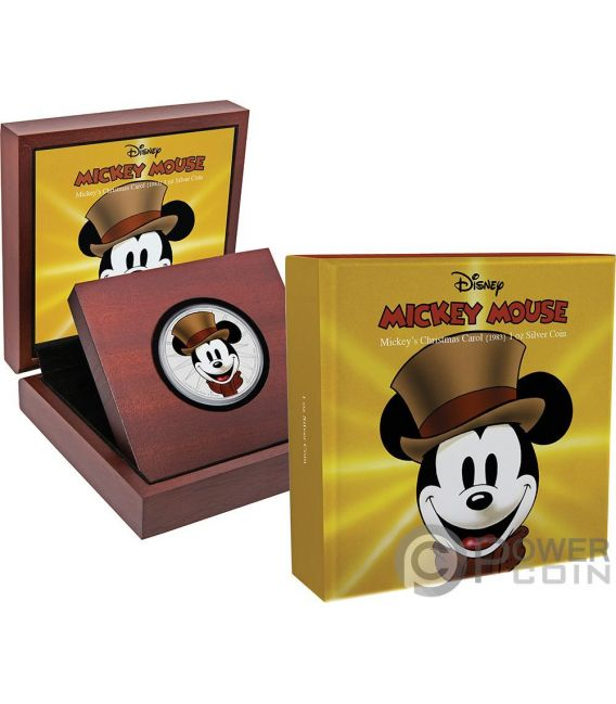 CHRISTMAS CAROL Canto di Natale Mickey Through The Ages Disney 1 Oz Moneta Argento 2$ Niue 2017