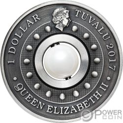 DRAGON AND PEARL Drachen und Perle 1 Oz Silber Münze 1$ Tuvalu 2017