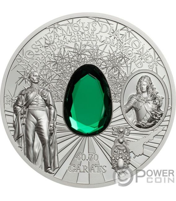 Dresden Green Diamond Most Famous Diamonds 2 Oz Silver
