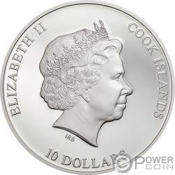 DRESDEN GREEN DIAMOND Grüner Diamant Most Famous Diamonds 2 Oz Silber Münze 10$ Cook Islands 2017