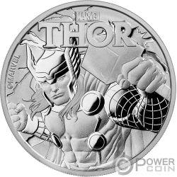 THOR Marvel 1 Oz Moneta Argento 1$ Tuvalu 2018