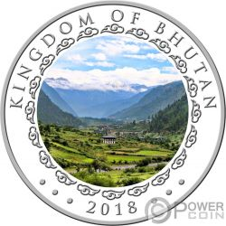 YEAR OF THE DOG Happiest Lunar 1 Oz Серебро Монета 500 Nu Бутан 2018