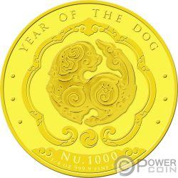 YEAR OF THE DOG Happiest Lunar Золото Монета 1000 Nu Бутан 2018