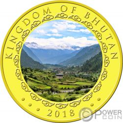 YEAR OF THE DOG Perro Happiest Lunar Moneda Oro 1000 Nu Bhutan 2018