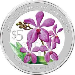 ORCHIDS Heritage 2 Plata Proof Moneda Set 5$ Singapore 2010
