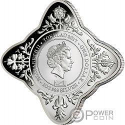 QUEEN ELIZABETH II AND PRINCE PHILIP 70th Wedding Anniversary 1 Oz Silver Coin 1$ Tokelau 2017