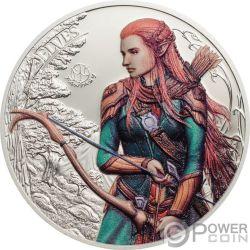 ELVES Elfos Fantastic Fantasy 1 Oz Moneda Plata 5$ Palau 2017