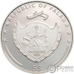 DON QUIXOTE Illusions Del Prete Silver Coin 5$ Palau 2008