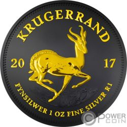 KRUGERRAND Black Ruthenium 1 Oz Silber Münze 1 Rand South Africa 2017