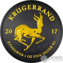 KRUGERRAND Black Ruthenium 1 Oz Silver Coin 1 Rand South Africa 2017