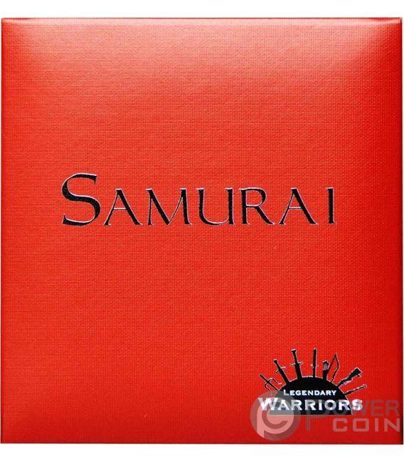 SAMURAI Legendary Warriors 2 Oz Moneta Argento 1500 Franchi Burkina Faso 2017