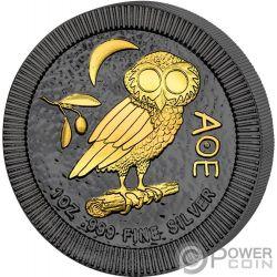 OWL OF ATHENS Civetta di Minerva Golden Enigma 1 Oz Moneta Argento Mexico 2017