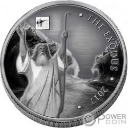 MOSES II Exodus Bible Tales Nano Chip 1 Oz Серебро Монета 1000 Франков Буркина-Фасо 2017