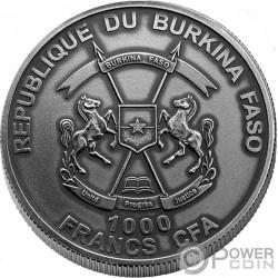 MOSES II Moises Exodo Bible Tales Nano Chip 1 Oz Moneda Plata 1000 Francos Burkina Faso 2017