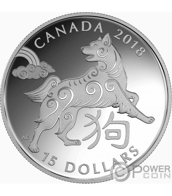 Year Of The Dog Chinese Zodiac 1 Oz Silver Coin 15 Canada