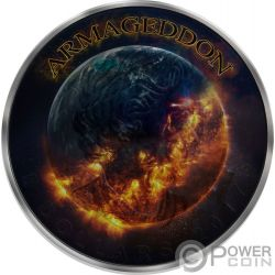 GRIM REAPER Death Maple Leaf Armageddon 1 Oz Silver Coin 5$ Canada 2016