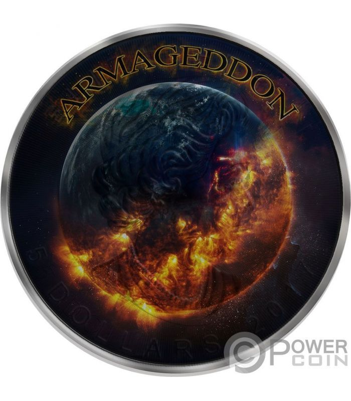 Grim Reaper Death Maple Leaf Armageddon 1 Oz Silver Coin 5